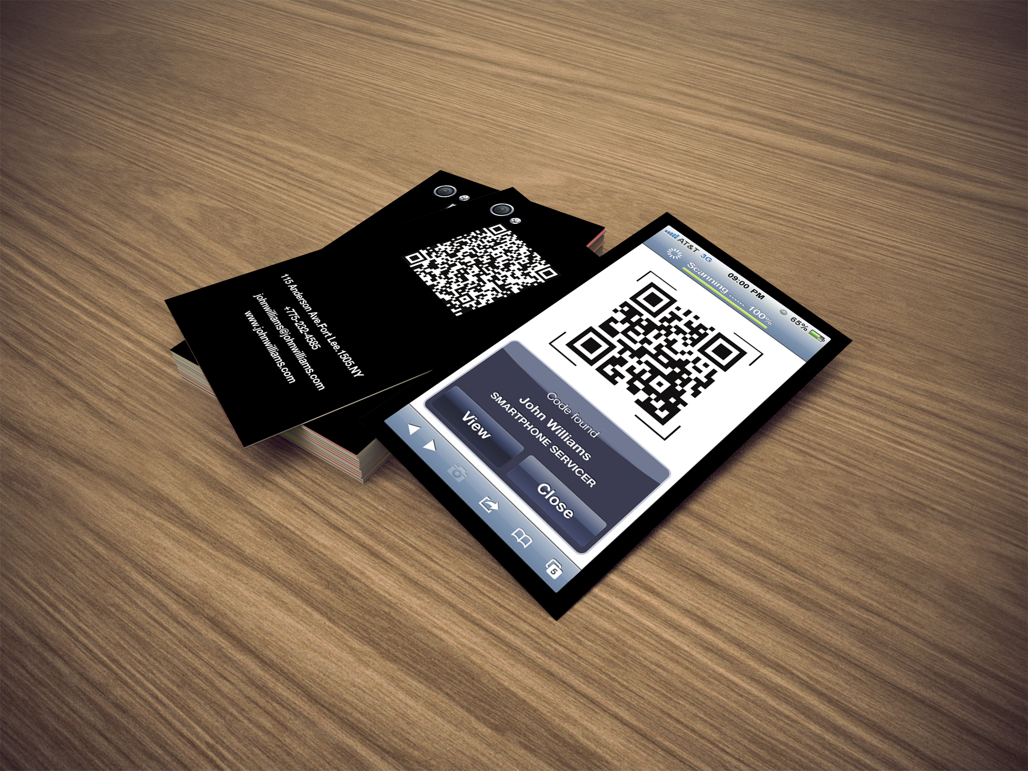 Modern Trend, Electronic Business Cards (How to Generate QR business ...